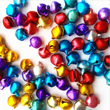 10Pcs/set Alloy Mini colored bells For Home Wedding Party DIY Handmade Jewelry Campanula Accessories Christmas Tree Ornaments(China)