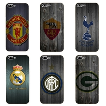 "For Apple iPhone 7 Plus Cover Phone Case 5 5C SE Shell 4.7"" 6 6S 5.5 Inch Transparent Cover Soft Silicon Wood Football Pattern"