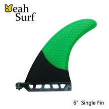 SUP Fin 6 Length Longboard Fin Green Fibreglass Center Fins