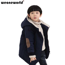 WEONEWORLD 2017 New Kids Baby Boy Winter Wadded Coat Jacket Cotton Padded Jacket Children Winter Coat Boy Winter Outerwear