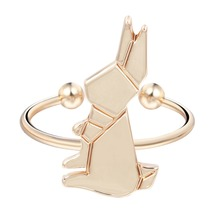 QIAMNI Hot Fashion Wholesale 10 pcs/lot Delicate Rabbit Rings for Women and Girls Sweet Jewelry Bunny Ring