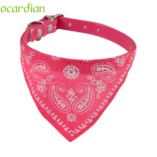 dog collar 5Color Optional Adjustable Pet Collar for Dogs Decoration Neckerchief Paisley Particular Custom Aug8