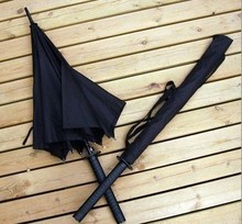 Free Shipping Man Samurai Katana Shape Long-handle Umbrella(China)