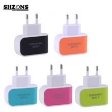 Candy Color 5V 3.1A US EU Plug 3 Ports USB Wall Home Travel AC Charger Adapter for iPhone 5s 6s 7 for Samsung S6 S7 for Huawei(China)