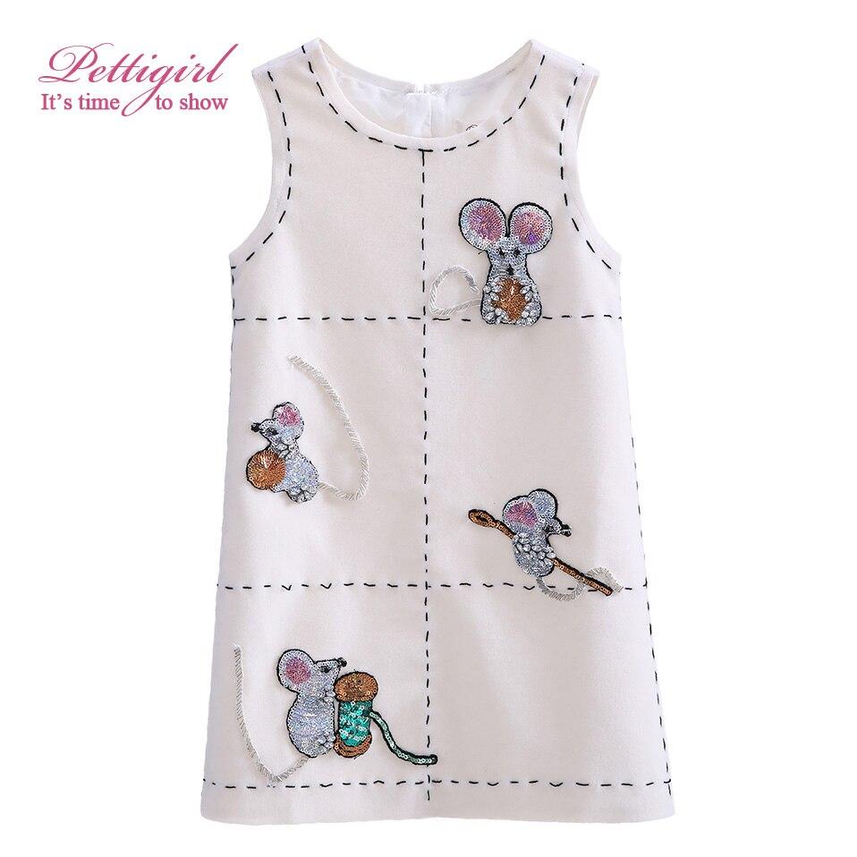Pettigirl Boutique Girl Winter Tank Dresses Kids Woolen Straight Dress Cute Mouse Sequins Pattern Casual ClothingG-DMGD908-853<br><br>Aliexpress