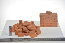 1: 6 soldiers 12inch scene components of World War II modern work bunker platform props red bricks 100pcs/set(China)