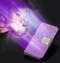 For SONY Xperia Neo V MT11i MT15i case Bling flip Leather Case Wallet Cover For SONY Xperia MT15i phone cases with Card Holder(China)