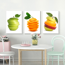 3 Piece Abstract Canvas Art Oil Painting of Fruits Canvas Painting Wall Art Picture for Kitchen Home Decor Modern Print(China)