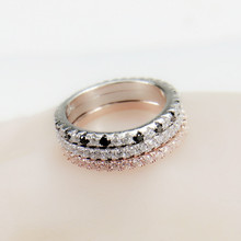sterling Silver gold black Band Ring Wedding Engagement Finger for Women love finger design tail pinky nail jewlery LR1090C