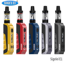 Buy Original SIGELEI E1 Start Kit Vape Box Mod Kit 2ml Tank 510 thread Electronic Cigarette Kit Temperature Control Sigelei E1 MOD for $41.06 in AliExpress store