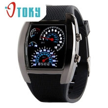 Watch OTOKY Willby Fashion Aviation Dial Flash LED Watch Gift Mens Sports Car Meter Watches 161229 Drop Shipping