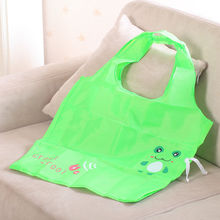 High Quality Portable Handbag Cute Green Frog Shopping Bag Tote Eco Storage Bag