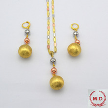 "dubai  Jewelry Set For Women Wholesale ""ITALY 750 ""Gold Plated Jewelry One color"