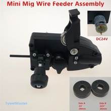 0.6/0.8mm SSJ-16 24V DC Light Duty MIG Wire Feeder Assembly Wire Feed Machine For Mig Welder Welding Torch(China)