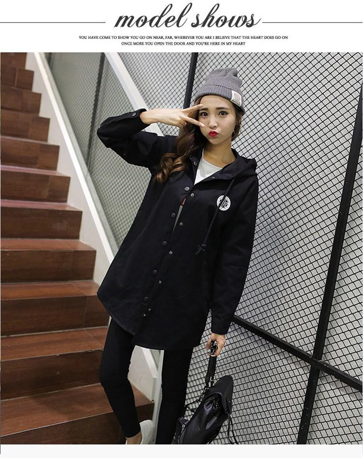 Jackets Women 2019 New Winter Fall Women\`s Basic Jacket Letter Print Coats Outwear Windbreaker Jacket Hooded Chaquetas Mujer (14)