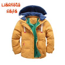 2017 Hickened Boys/Girls Winter Jackets 3-12 Children Outerwear Winter Coats Duck Parka Down Coat For Boys Solid Boys Snow Wear(China)