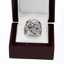 WITH BOX National Football League 2012 SUPER BOWL XLVII BALTIMORE RAVENS Design High Quality Replica CHAMPIONSHIP RING STR0-416(China)