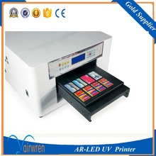multifunction mobile cover flatbed printer Print on Metal machine a3 6 color with water cooling system