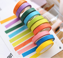 2017 New Fashion Candy Color Washi Tape Accessories for Dokibook Notebook Planner Inner Pages 10PCS One Set
