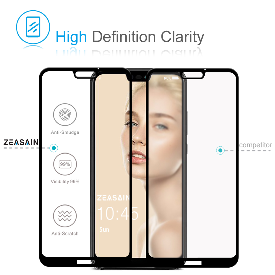 Original ZEASAIN Full Cover Tempered Glass for Huawei P20 Lite P20Lite Huaweip20 Lite Screen Protector 9H 2.5D Safety Glass Film (3)