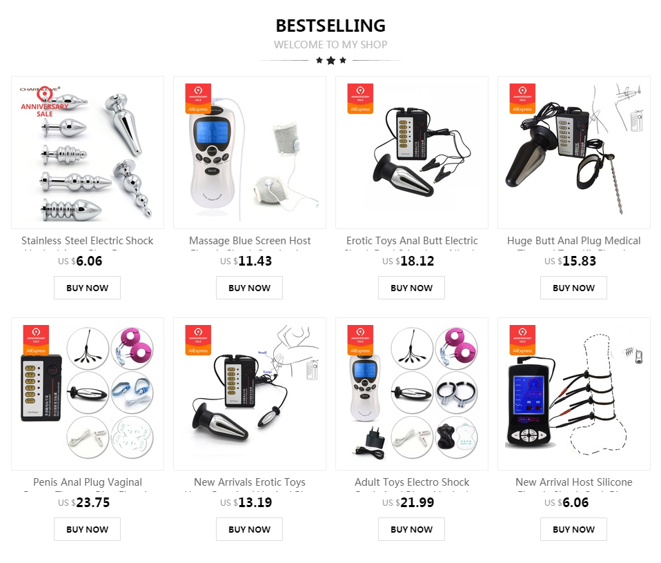 Huge Butt Anal Plug Medical Themed Toys Kit Electric Shock Penis Rings Electro Shock Urethral Sounds Vibrator Sex Toys For Men 3