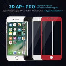 Buy iPhone 8 Glass Nillkin AP+Pro Anti-Explosion 9H 3D Full Cover Tempered Glass Screen Protector iPhone 7 4.7 inch Glass for $10.09 in AliExpress store