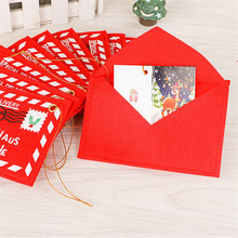 Christmas Supplies Christmas tree ornaments Christmas dress nonwoven fabric envelope loaded bag candy Christmas cards decoration(China)