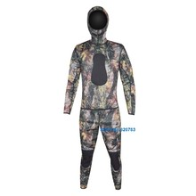 5mm Open Cell Rubber Neoprene Camouflage Spearfishing Wet suit Wetsuits for Underwater Hunting WS-01-5(China)