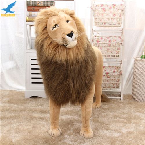 Fancytrader 43\'\' Giant Plush Stuffed Simulation Lifelike Lion King Simba Can be Rided by Kids Great Gift FT90284 (7)
