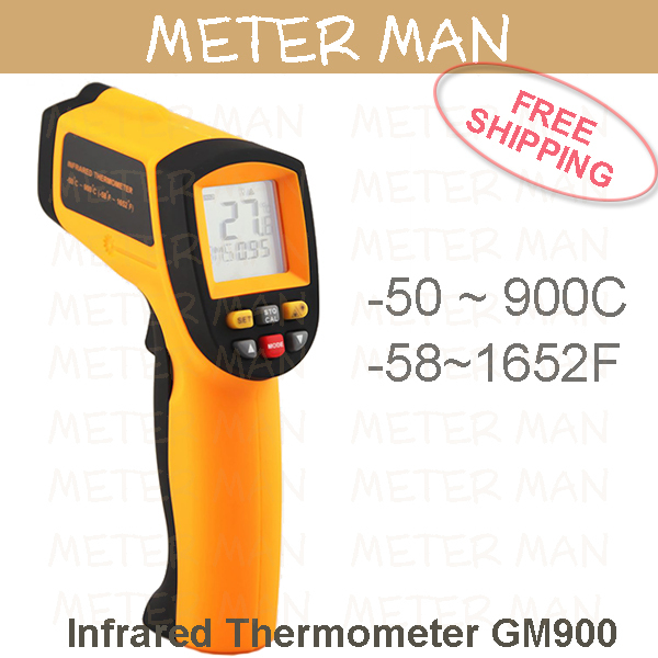 12:1  Palm Size Portable 900 degree  IR Meter Infrared thermometer GM900<br><br>Aliexpress