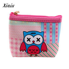 Fashion Women PU Leather owl hasp lady girls Coin Purse Kids Wallet Bag Coin Pouch Children Purse Holder Women Coin Wallet(China)