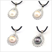 FREE SHIPPING !!! 100% Genuine White Pink Purple Black Natural Freshwater Pearl Teardrop Pendants - The fairy's Tear