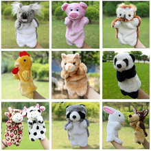Animal Plush Hand Puppets Duck Cat Dog Pig Fox Chicken Cow Koala Dolls Children Soft Puppets Toy Brinquedo Marionetes Fantoche
