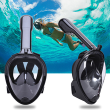 Diving Mask Full Face Snorkeling Mask Set 180 Degree Swimming Training Scuba Mask Anti Fog for Gopro Camera Adjustable Headband