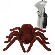 Halloween Gift Trick Prank Model Remote Control Realistic RC Spider Scary Toy(China)