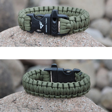 Hand Braided Bracelet New Fashion Whistle Buckle Bracelets Men Charm Survival Rope Paracord  Male Wrap Sport  Bracelet  Colorful