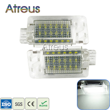 Atreus Car LED Luggage Compartment Lights For Volvo XC70 S60 S80 C70 XC90 Accessories 2X White SMD LED Luggage Lamp Bulb Kit 12V
