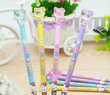 6pcs/lot Hello Kitty Gel Pen Pretty Good Looking Signature Water-based Pen Gel Pen school offical supplier(China)