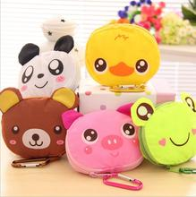 Cartoon Animal Folding Shopping Tote Reusable Eco Bag Panda Frog Pig Bear waterproof shopping bag Grocery Reusable Handbags CWX