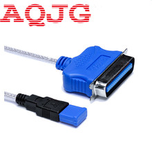 1.8M USB 2.0 To Parallel IEEE 1284 Centronic  25 Pin DB25 Printer Adapter Cable   for PC Laptop Desktop Notebook 6FT New AQJG