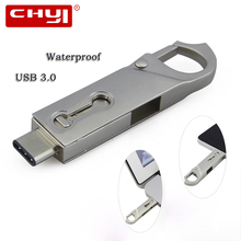CHYI New OTG Type C USB 3.0 Flash Drive 16/32/64GB PC Tablet Smartphone USB Memory Stick Mini Pen Drive Gadget Double Plug