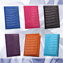 Alligator Embossing Faux Leather Passport Holder ID Card Ticket Organizer Case(China)