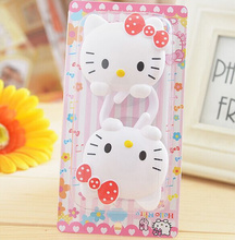 2PCS=1Pack , Hello Kitty Sucker 6*5CM Home Wall Clothing Hook Hanger Racks ; Bathroom Wall Towel Hanger Cloth Holder Hook RACK