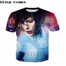 PLstar Cosmos 2017 summer new Fashion T-shirt Ghost in the Shell Latest design 3d t shirt harajuku style Men Women t shirt
