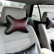 Universal Red wine Car headrest car neck pillow black with red 1 pair auto supplies red line plaid auto accessories car styling