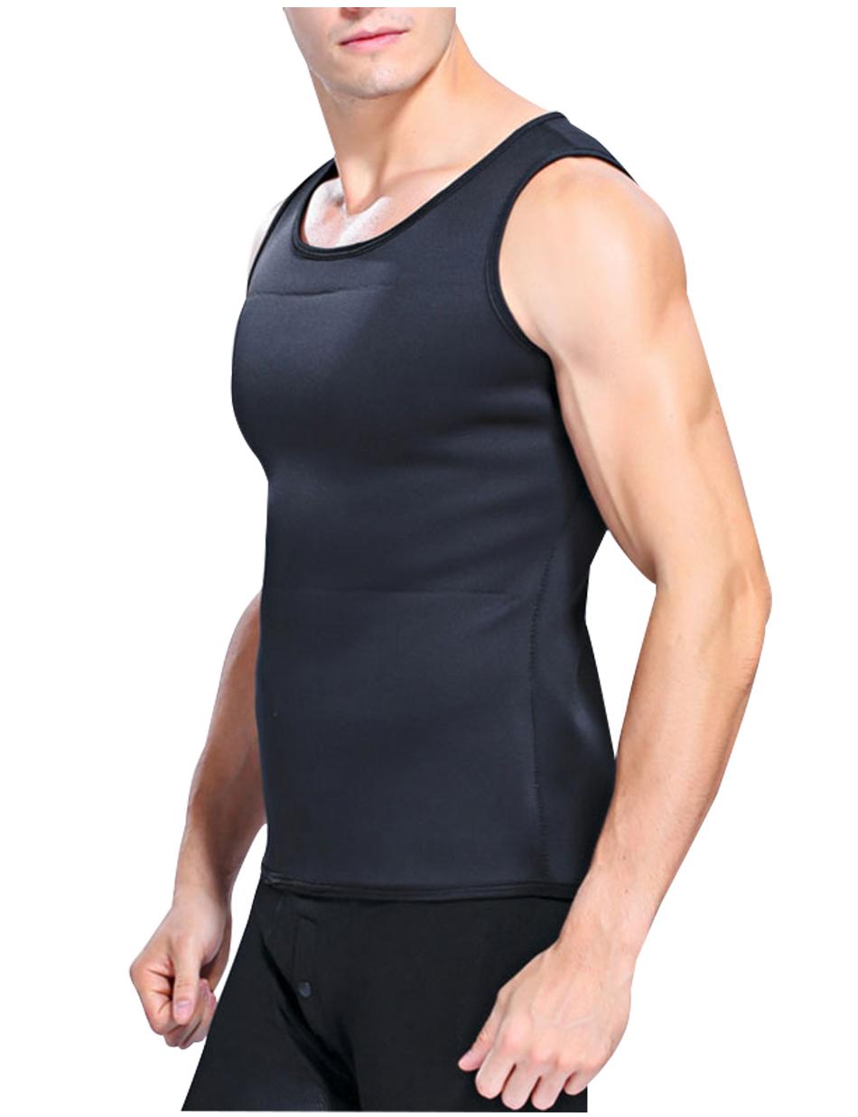 Hot Shapers Slimming T-shirt Neoprene Shaper Vest Men Slimming Body Shaper Corset Waist Trainer Belt Super Stretch Shapewear 5