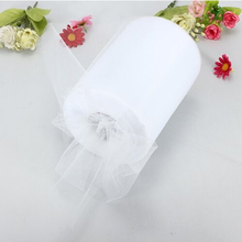 "White Tulle Roll Spool 6""x100YD Tutu DIY Circle Skirt Fabric Wedding Banquet Adornment Gift Bow Craft Decor(China)"
