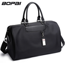 Buy BOPAI Men Travel Bag Organizer Short Distance Business Travel Men Bags Black Unisex Ladies Travel Shoulder Bags Cool Weekend Bag for $39.84 in AliExpress store