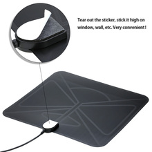 Flat HD TV Digital Indoor Antenna HDTV High Gain 35 Miles Range ATSC DVB ISDB with 10ft High Performance Coax Cable