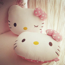 Cartoon One Piece 38*28CM Cute Hello Kitty Plush Toy&Cushion&Blanket PP Cotton Stuffed Pillows KT Cat Dolls Children Presents